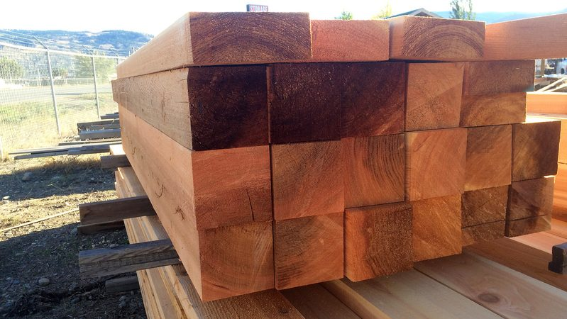 rough cut clear cedar